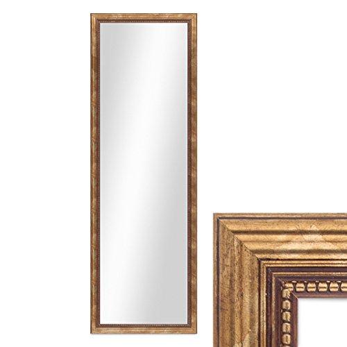 Wand-Spiegel ca. 36x96 cm im Massivholz-Rahmen Barock-Stil Antik Gold  Spiegelfläche 30x90 cm