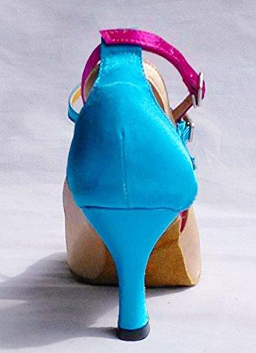 TDA , Peep-Toe femme Beige Blue