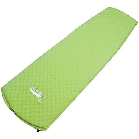 Bettertol Massaggio Materassino Isolante Autogonfiabile Automatico rotolo singolo con Wave Texture, 182 * 51 * 3 cm (verde)