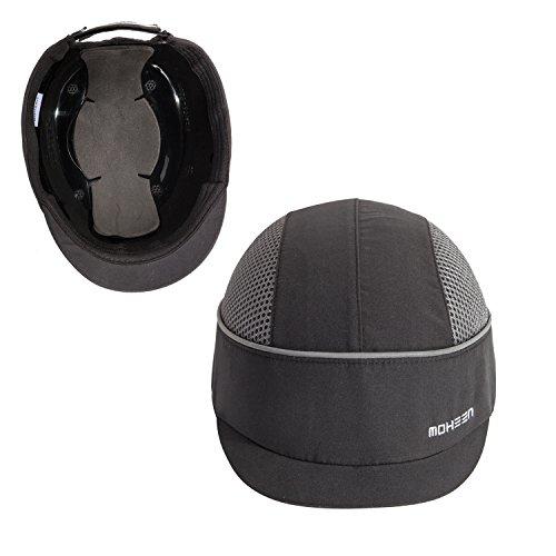 Cappello di sicurezza con strisce riflettenti, leggero e traspirante, nero, M18101-H Micro Brim Black