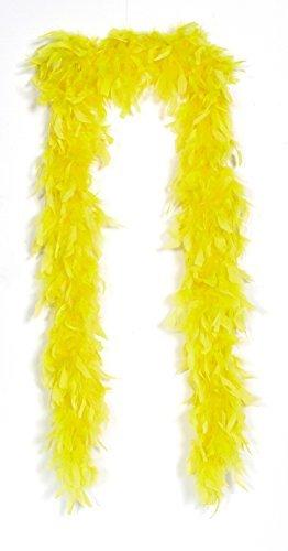 Boa di piume giallo
