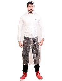 Krystle Men's Transparent PVC Raincoat (Pack of 1)