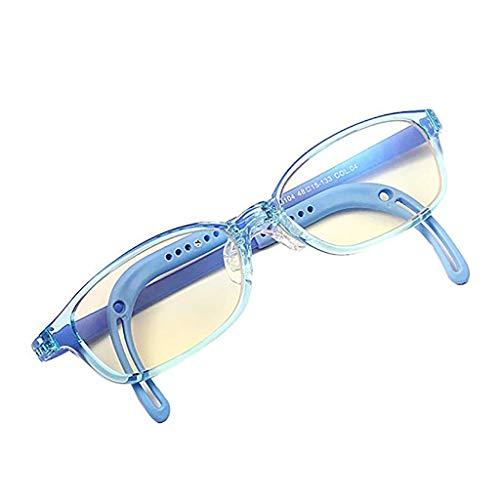Der Geschmack von zu Hause Kinder Anti-Blaulicht Strahlung Brille Schutz Auge Computerschutzbrillen Handy Spiel Flachen Spiegel Einstellbar Design der Tempel (Color : B)
