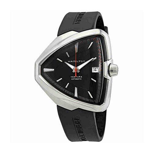 Hamilton Men's Black Rubber Band Steel Case Automatic Analog Watch H24555331