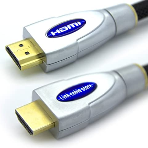 LCS - FALCON - 10M - Câble HDMI 1.4 - 2.0 - 2.0 a/b - Professionnel - 3D - Ultra HD 4K 2160p - Full HD 1080p - ARC - CEC - High Speed par Ethernet - Connecteurs plaqués or