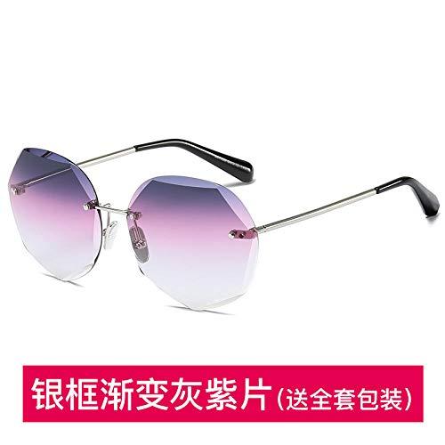 HB 2019 Neue Sonnenbrille weiblich ins koreanische Version der Flut rundes Gesicht Anti-UV-Netzwerk rot GM Sonnenbrille Stern Straßenbrille