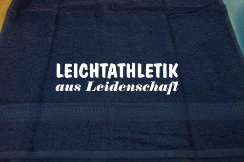 Leichtathletik aus Leidenschaft; Handtuch Sport, dunkelblau