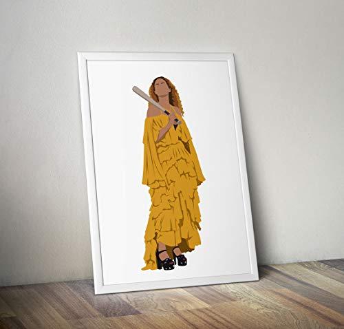 Beyonce inspirierte Poster - Zitat - Musiker Prints in verschiedenen Größen (Rahmen nicht im Lieferumfang enthalten) (Aufnahme-foto-rahmen)