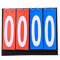 Yeucan Digital Scoreboard Football Table Volleyball Competition Points Statistics Card,4 scoreboards (2 red + 2 blue),Size 2