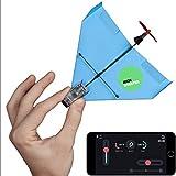 POWERUP DART - Aerodynamik Smartphone gesteuerter Elektrobausatz für Papierflugzeuge, Red (Red)