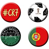Football World Cup Badges (Set Of 4) | Portugal