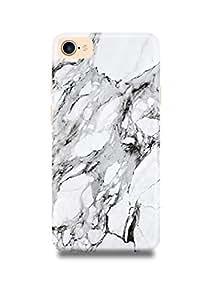 White & Black Marble iPhone 7 Case-2672
