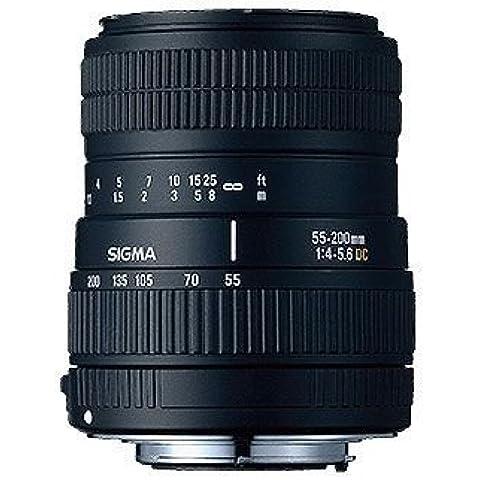 Sigma 55-200mm F4-5.6 DC (Nikon) - Objetivo (55 - 200 mm, 1.1m, 25.5°, Negro, 7.15 cm, 5.5 cm)