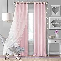 """ستارة ستارة نافذة تعتيم شفافة من Elrene Home Fashions 52""""W x 84""""L (1 panel) 026865997286"""