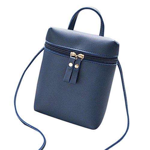 Gesteppte Clutch Wallet (Damen Tasche, Huihong Shopper Tasche Mode Handtasche ReißVerschluss Tasche Schultertasche Tote Frauen UmhäNgetasche Münztasche Handytasche FüR Freundin Geschenk (Blau))