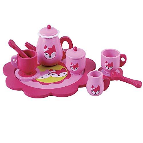 Bambini, ragazzi fingono il Tè in legno Set da 10 pezzi Fox...