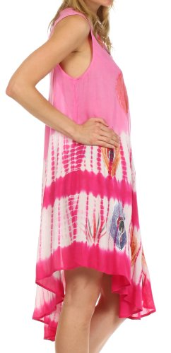 Sakkas plume de paon Caftan Robe / Cover Up Rose