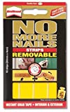 Unibond No More Nails Strip Ultra-strong Removable Translucent - Pack of 10