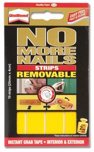 Unibond No More Nails Strip Ultra-strong Removable Translucent - Pack