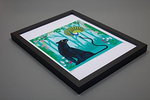 Il pavone e la pantera-Poster con stampa artistica di Oliver (Numerato Parte)