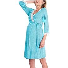 Gusspower Vestido de Lactancia Maternidad de Noche Camisón Mujeres Embarazadas Ropa de Dormir Premamá Pijama Verano
