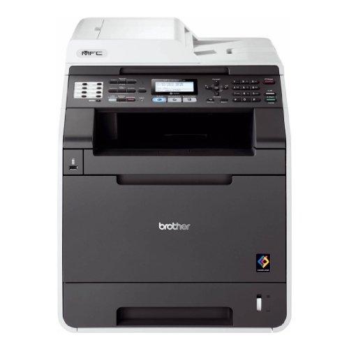 Brother MFC-9465CDN Farblaserdrucker (Drucker, Scanner, Kopierer, fax, 2400 x 600 dpi, USB 2.0, Duplex) antrhazit/grau