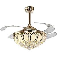 SAEJJ-Ventilatore Stealth, Lampadario, Crystal Lotus ventilatore lampada luce ventilatore luce