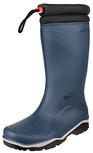 Dunlop Blizzard Warm Black Fleece Linned Padded Collar Wellington Boots