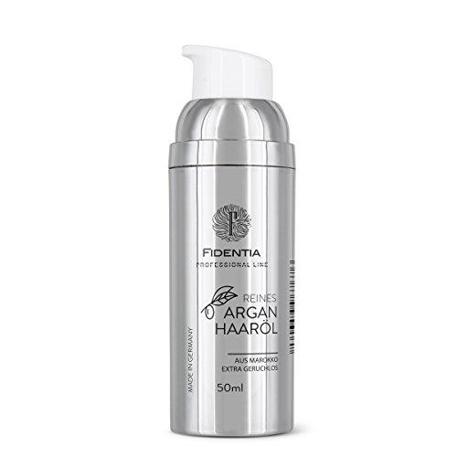 Fidentia Hair Reines Argan Haaröl | kaltgepresst aus Marokko | geruchslos | tägliche Pflege für Roh- und Schnitthaar Extensions, Eigenhaar - 50ml