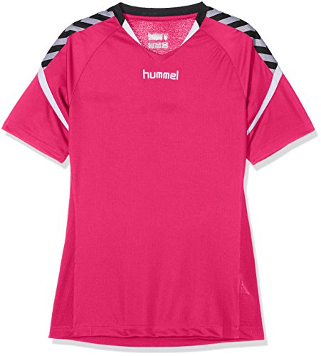 Hummel Kinder Auth. Charge Short Sleeve Poly Jersey Trikot, Bright Rose, 164-176