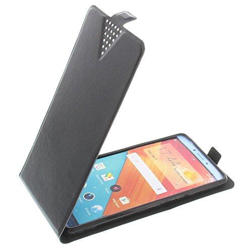 foto-kontor Tasche für Oppo R7 Lite Flip Style Ultra-dünn Schutz Hülle Schwarz
