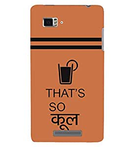 printtech That's Cool Quotes Back Case Cover for Lenovo Vibe Z K910