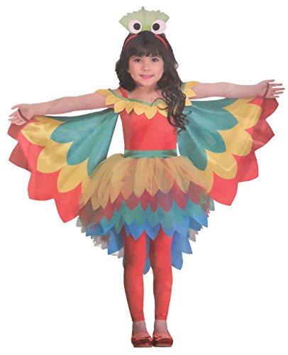 (Brandsseller Mädchen Kostüm Verkleidung Fasching Karneval Party - Papagei S (4-6 Jahre))