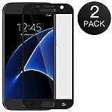 Zloer [2 pièces] Verre Trempé Samsung Galaxy S7, Film Protection en Verre Trempé - [3D Couverture Complète] [Ultra Résistant Dureté 9H] [sans Bulles] [Ultra Claire] - pour Samsung Galaxy S7