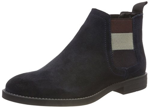 Hilfiger Denim Damen Essential Chelsea Boots, Blau (Midnight 403), 39 EU