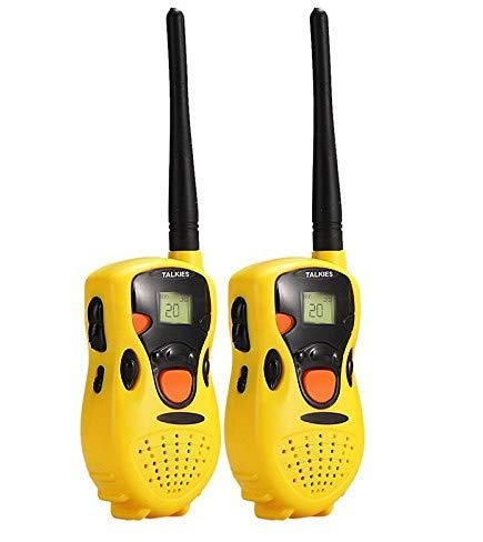 HM2 Kinder Walkie Talkies 2 Stück Long Range Kids Walky Talky UHF 8 Kanäle Lizenz Free Two-Way Radios mit LED-Licht auf dem Top