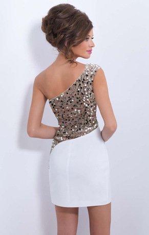 BOMOVO Damen Sommerkleid Elegant Design Celebrity Business Party Cocktail Kleid Weiß