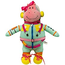 Wekom Hippomottie Learn To Dress Basic Skills Toy. Space Hippo Pink Girl Design
