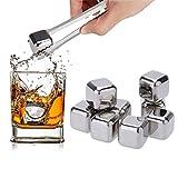 Stainless Steel Stones Ice Cubes Geschenk Set High Cooling Technology - Mehrweg-Eiswürfel - Edelstahl-Whisky-Eiswürfel -...