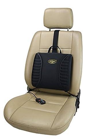 ObboMed SU-3400N 12V Coussin de siège chauffant de massage pour lombaire, support pour le bas du dos/taille pour les longues routes assis. Portable , leger avec un positionnement en contrepoids facile pour les voitures, automobile, vehicule, maison , bureau