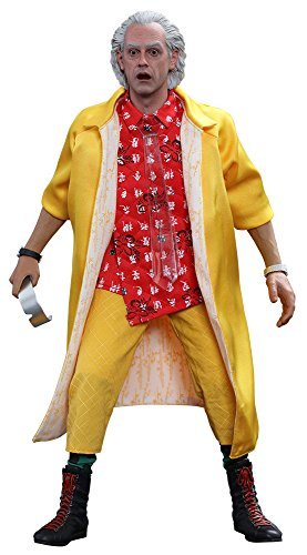 Hot Toys Back To the Future 2 II Dr Emmett Brown 1:6 Aktionfigur MMS380 (Zurück In Zukunft-kostüm Die)
