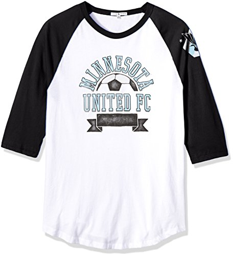 Junk Food Herren 3/4 Raglan Tee, Herren, Clothing Men's MLS Raglan, Ew/Tb, Medium -