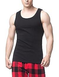 ba34b0f2f6ada8 LAPASA 4 Pack Men s Pure Cotton Vests Bodybuilding Training Gym Basketball Tank  Tops Basic Plain Color