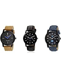 Watch Me Gift Combo Set For Him/Watches For Men/Watches For Boys (watches 3 Combo/watches 2 Combo) WMC-002-BR-AWC... - B0778NQ5Q3
