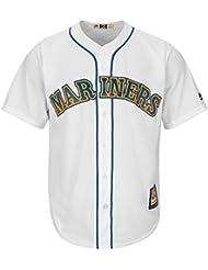 Majestic Ken Griffey Jr. # 24Seattle Mariners Cool Base MLB Camiseta Home Blanco blanco