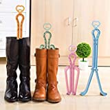 Yellow : Folding Boots Clip Shoes Stretcher Shape Holder Keeper Candy Color Boots Storage Trees Shoe Hanger Shoes Support Device FA