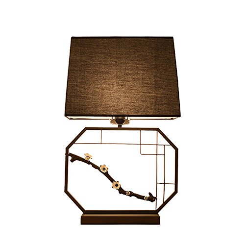 AFGD Tischlampe38X62Cm Chinese Style Table Lamp For Bedroom Bedside Living Room Study Desk Lamp Elegant Home Decor Lamp E27,Black,Yellow (Elegant Home Decor)