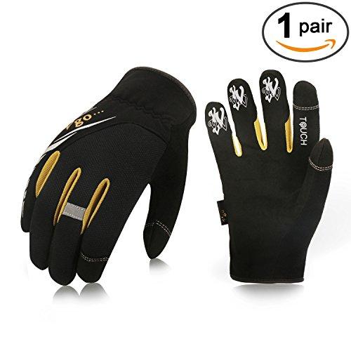 Vgo Glove Guantes de Trabajo ligeros,guantes Mecánicos, Trabajo, Fáciles, Mecánicos y Aparejos, Pantalla Táctil, Multifunción (1, 10/XL)