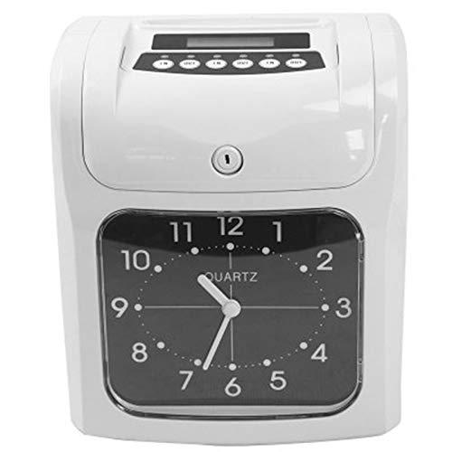 SODIAL Elektronische Mitarbeiter Stempel Uhr Recorder Anwesenheit Liste Maschine für BüRo Fabrik Lager Zeiter Fassung, Eu Stecker (Elektronische Stempel)