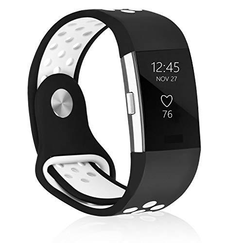 AdePoy Ersatzarmbänder kompatibel für Fitbit Alta/Alta HR, verstellbare Sport Smartwatch Fitness Armband für Frauen Männer Schwarz Klein